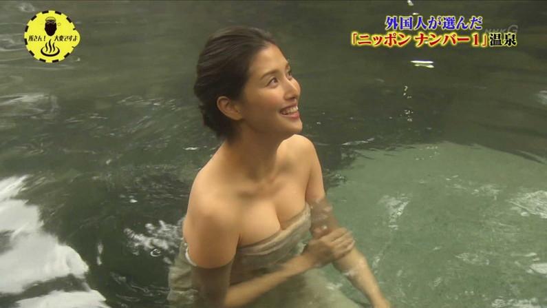 【温泉キャプ画像】バスタオルからのポロリ期待値高めの温泉レポがエロすぎw 08