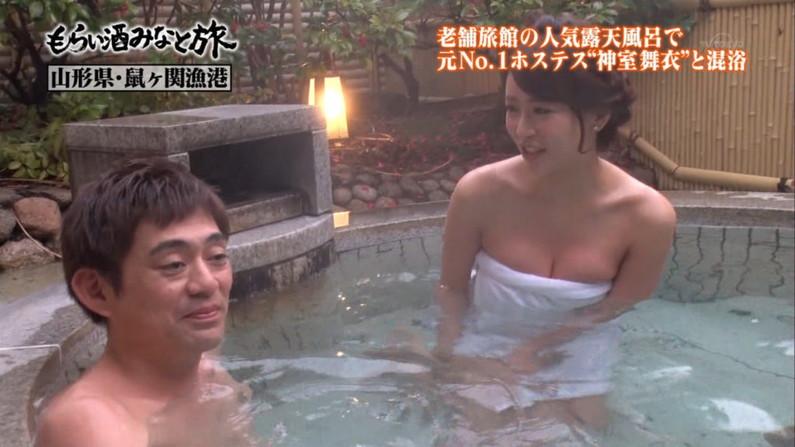 【温泉キャプ画像】バスタオルからのポロリ期待値高めの温泉レポがエロすぎw 17