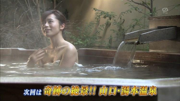 【温泉キャプ画像】バスタオルからのポロリ期待値高めの温泉レポがエロすぎw 24