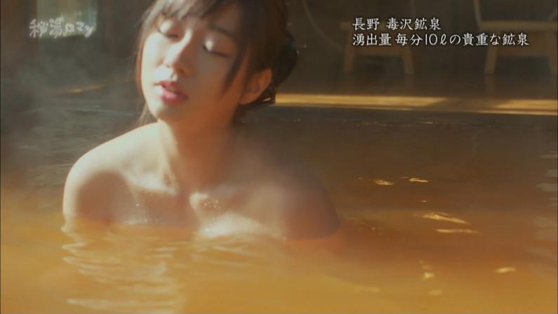 【温泉キャプ画像】バスタオルからオッパイはみ出しすぎな温泉レポw 04