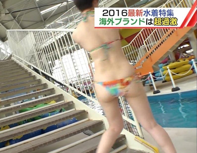 【お尻キャプ画像】テレビに映る水着美女達のやらしいハミ尻ww 12