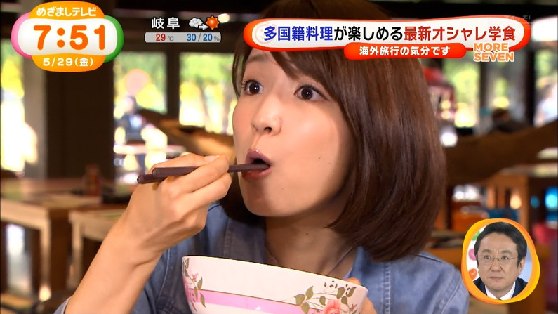 【疑似フェラキャプ画像】フェラしてる顔も食レポしてる時も同じ顔になっちゃうタレント達w 06