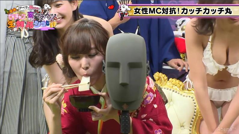 【疑似フェラキャプ画像】やらしいフェラ顔をお茶の間に晒しちゃうタレント達w 13