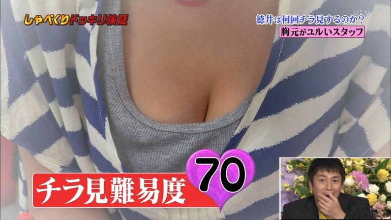 【胸ちらキャプ画像】エロい谷間をテレビで見せつけてくるタレント達w 06