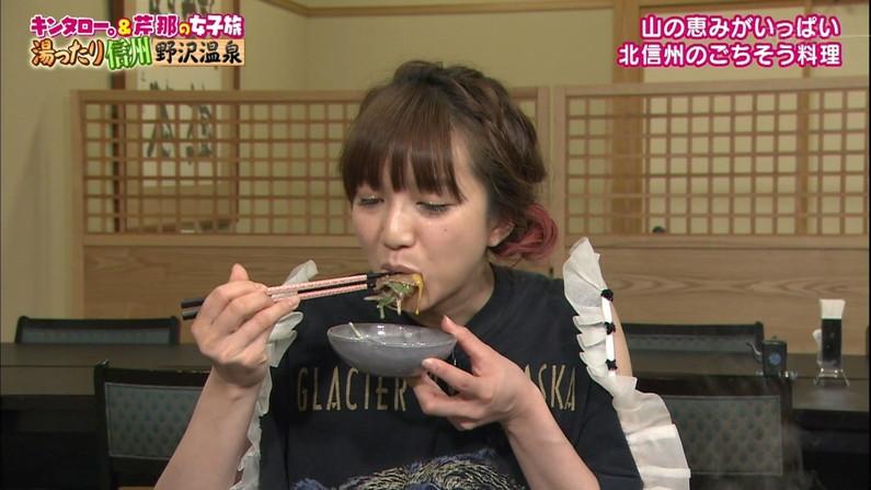 【疑似フェラキャプ画像】どうしても食レポの時にフェラ顔になっちゃうタレント達w 03
