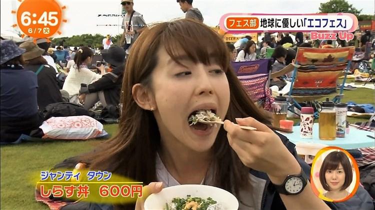 【疑似フェラキャプ画像】どうしても食レポの時にフェラ顔になっちゃうタレント達w 10