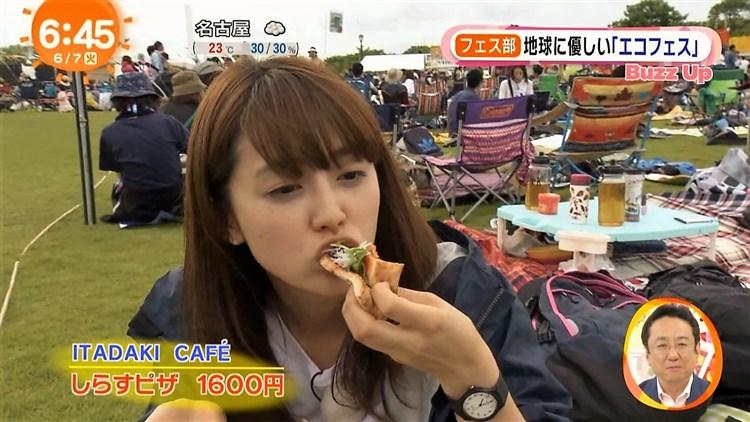 【疑似フェラキャプ画像】どうしても食レポの時にフェラ顔になっちゃうタレント達w 12