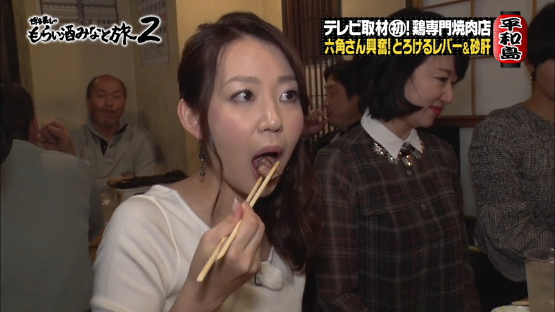【疑似フェラキャプ画像】どうしても食レポの時にフェラ顔になっちゃうタレント達w 13