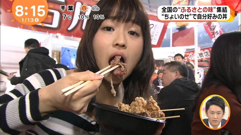 【疑似フェラキャプ画像】どうしても食レポの時にフェラ顔になっちゃうタレント達w 18