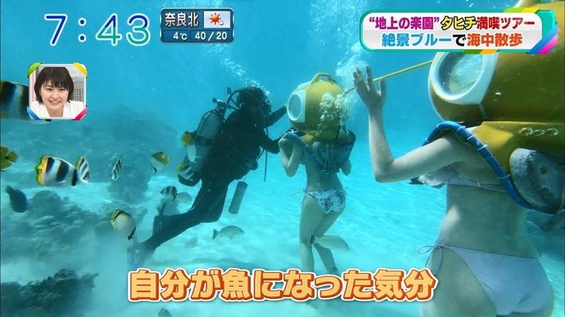【お尻キャプ画像】尻フェチにはたまらないタレント達の水着や下着からのハミ尻w 13