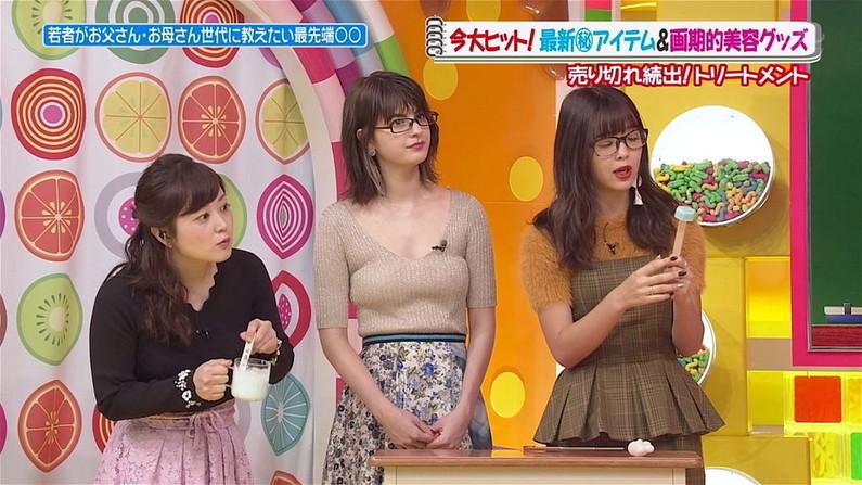 【着衣オッパイキャプ画像】タレントさん達が巨乳過ぎて服がパツンパツンになってるw 15