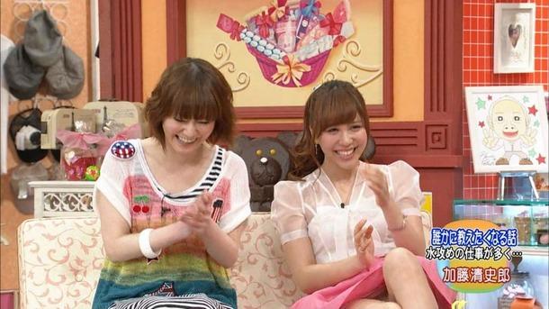 【パンチラキャプ画像】テレビにがっつりパンツ見せちゃったタレント達ww 12