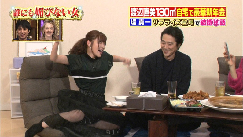 【パンチラキャプ画像】テレビにがっつりパンツ見せちゃったタレント達ww 19