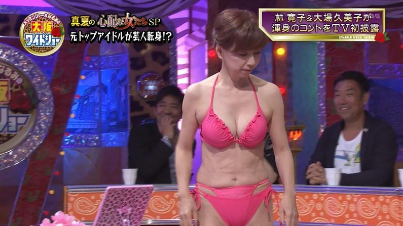 【水着キャプ画像】今にも乳首まで見えそうなビキニ着てるタレント達w 07