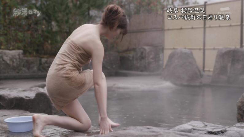 【温泉キャプ画像】やっぱり美女が出てる温泉番組って見てしまうよなw 14