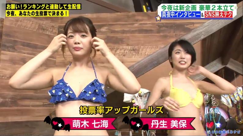【水着キャプ画像】巨乳タレント達の水着姿がエロすぎるテレビキャプ画像w 24