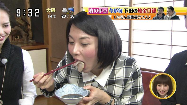 【疑似フェラキャプ画像】タレント達の卑猥な顔しながら食レポする様子がエロすぎるw 22