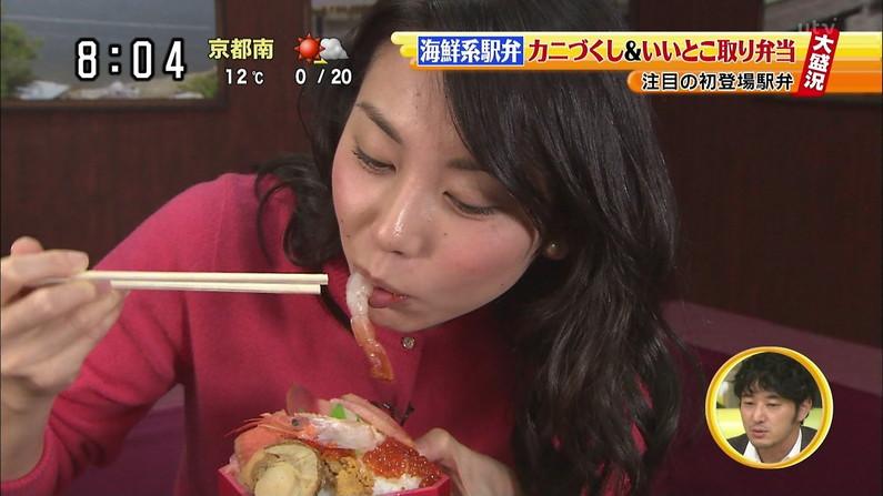 【疑似フェラキャプ画像】タレント達の卑猥な顔しながら食レポする様子がエロすぎるw 24