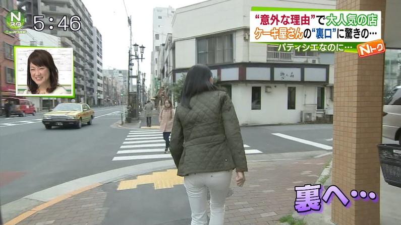 【お尻キャプ画像】ピタパン履いて綺麗なヒップライン見せつけてるタレント達w