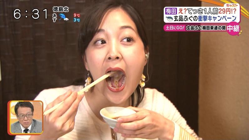 【疑似フェラキャプ画像】やらしい顔で頬張るエロい食レポするタレント達w 07