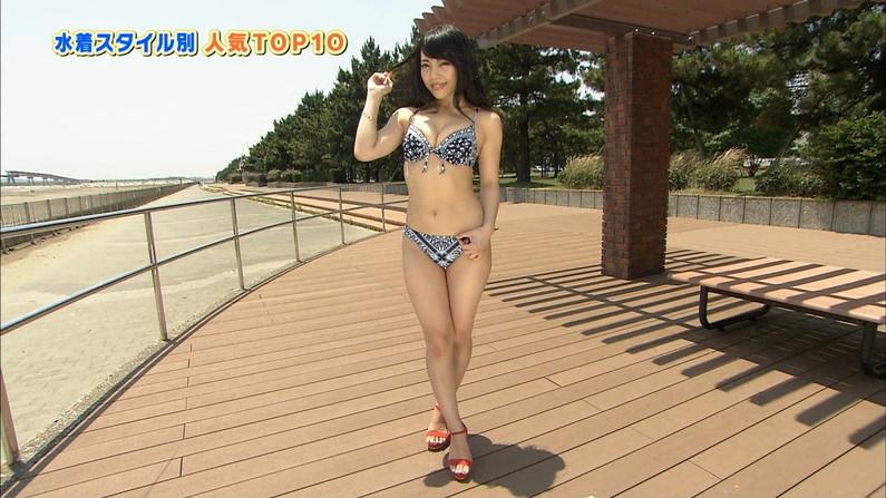 【水着キャプ画像】ここぞとばかりにテレビで水着姿でオッパイアピールする巨乳美女w 17