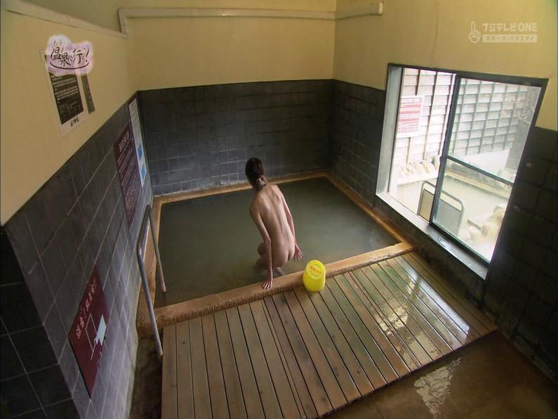 【お宝キャプ画像】もっと温泉に行こうで美女がエロいお尻丸出しで温泉に入ってるぞw 15