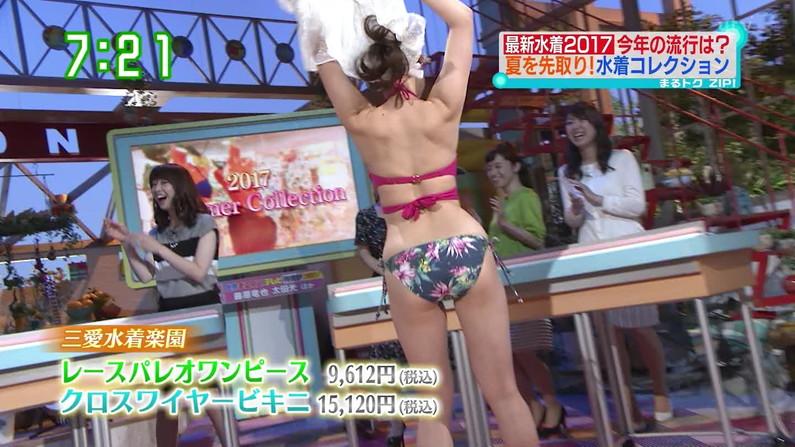 【お尻キャプ画像】Tバック姿やハミ尻しまくってる美女達がテレビに映りまくりw 17