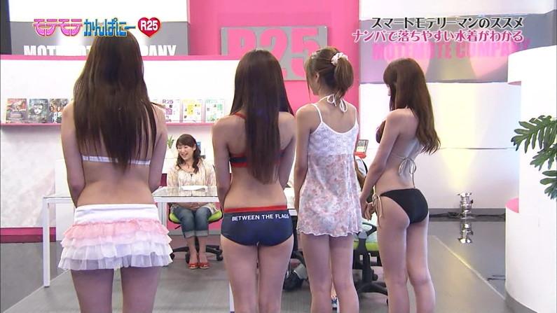 【お尻キャプ画像】Tバック姿やハミ尻しまくってる美女達がテレビに映りまくりw 19