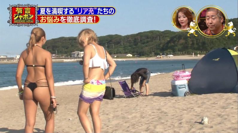 【お尻キャプ画像】Tバック姿やハミ尻しまくってる美女達がテレビに映りまくりw 22