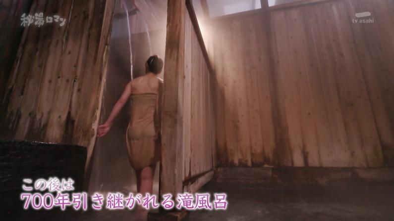 【温泉キャプ画像】絶対にポロリ期待してしまう巨乳タレント達の温泉レポw 08