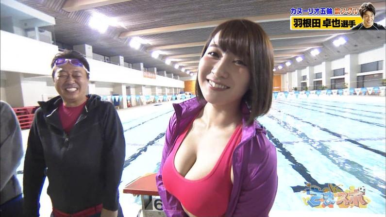 【水着キャプ画像】テレビに映るビキニ美女達のオッパイがこぼれそうww 05
