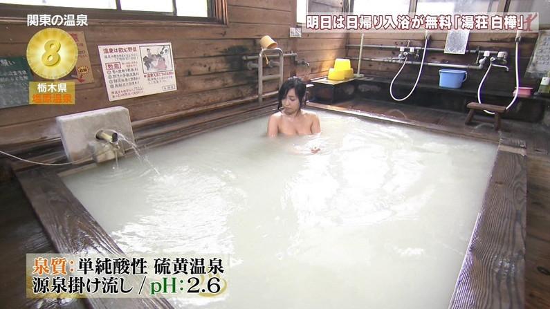 【温泉キャプ画像】タレント達の入浴シーンでハミ乳しまくりw 05
