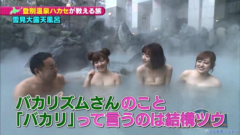 【温泉キャプ画像】タレント達の入浴シーンでハミ乳しまくりw 20
