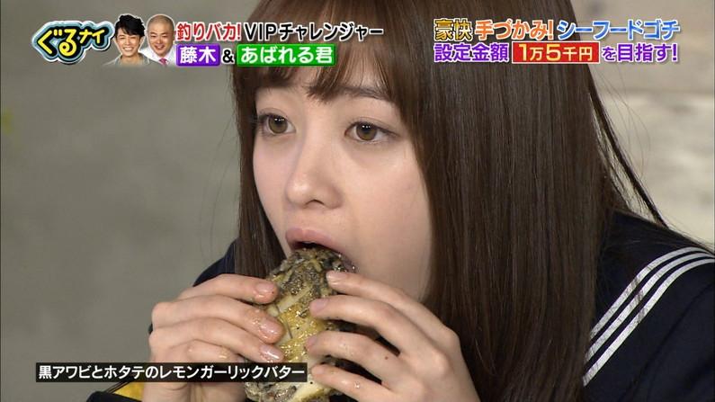 【疑似フェラキャプ画像】大きな口空けてやらしい顔しながら食レポしてるタレント達w 04