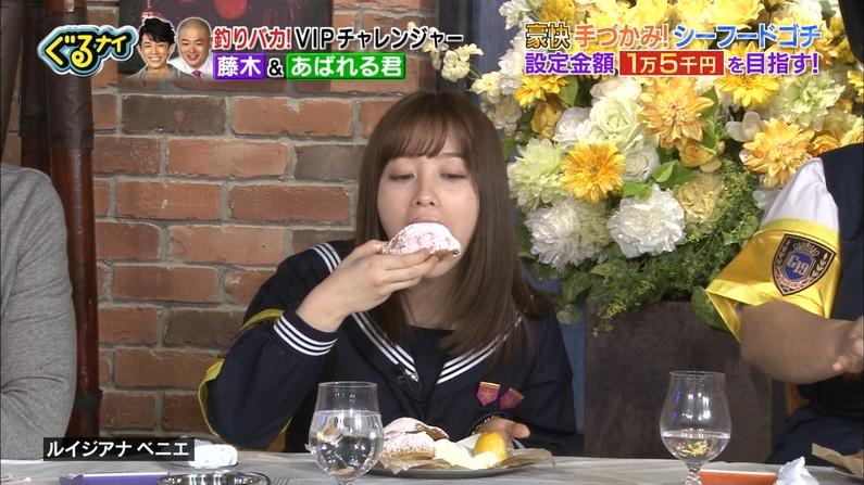 【疑似フェラキャプ画像】大きな口空けてやらしい顔しながら食レポしてるタレント達w 06