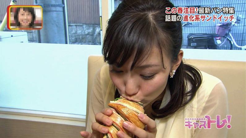 【疑似フェラキャプ画像】大きな口空けてやらしい顔しながら食レポしてるタレント達w 09