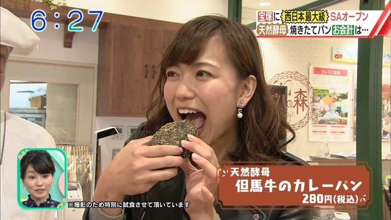 【疑似フェラキャプ画像】大きな口空けてやらしい顔しながら食レポしてるタレント達w 13