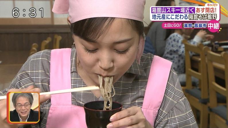 【疑似フェラキャプ画像】大きな口空けてやらしい顔しながら食レポしてるタレント達w 19