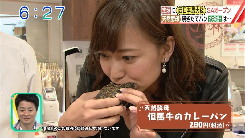 【疑似フェラキャプ画像】大きな口空けてやらしい顔しながら食レポしてるタレント達w 22