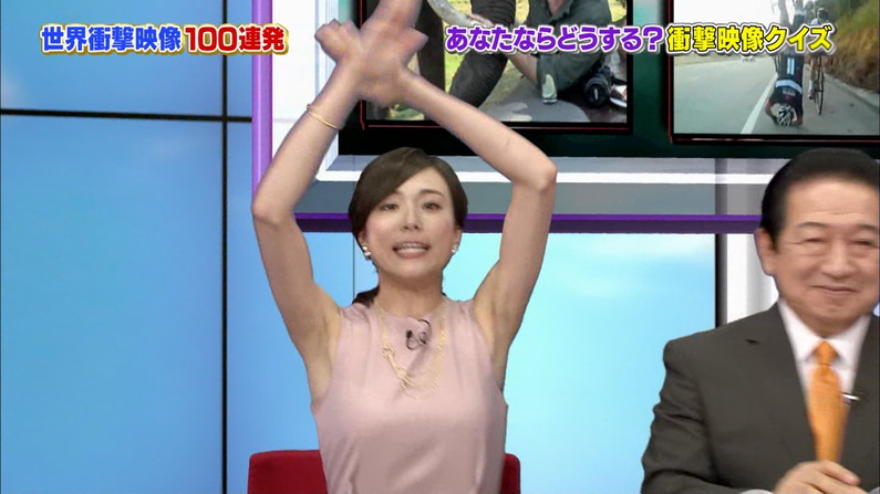 【脇キャプ画像】脇マンコと呼ばれてもおかしくないタレント達のエロい脇w