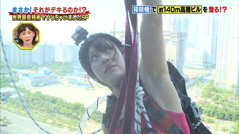 【脇キャプ画像】脇マンコと呼ばれてもおかしくないタレント達のエロい脇w 24