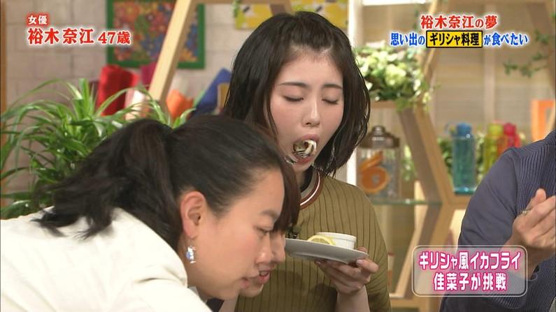 【疑似フェラキャプ画像】疑似フェラしてるように食レポしてるタレント達w 12