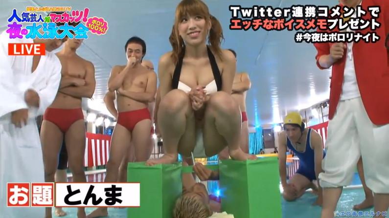 【ハプニングキャプ画像】お股広げすぎたタレント達がマンコ見えかけてるw 23